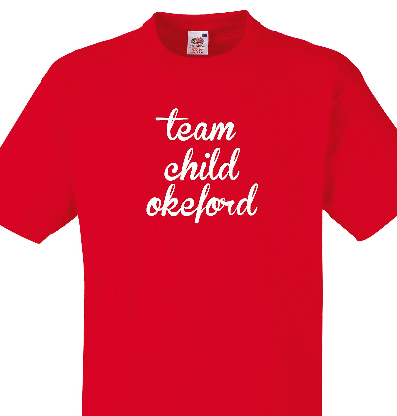 Team Child okeford Red T shirt