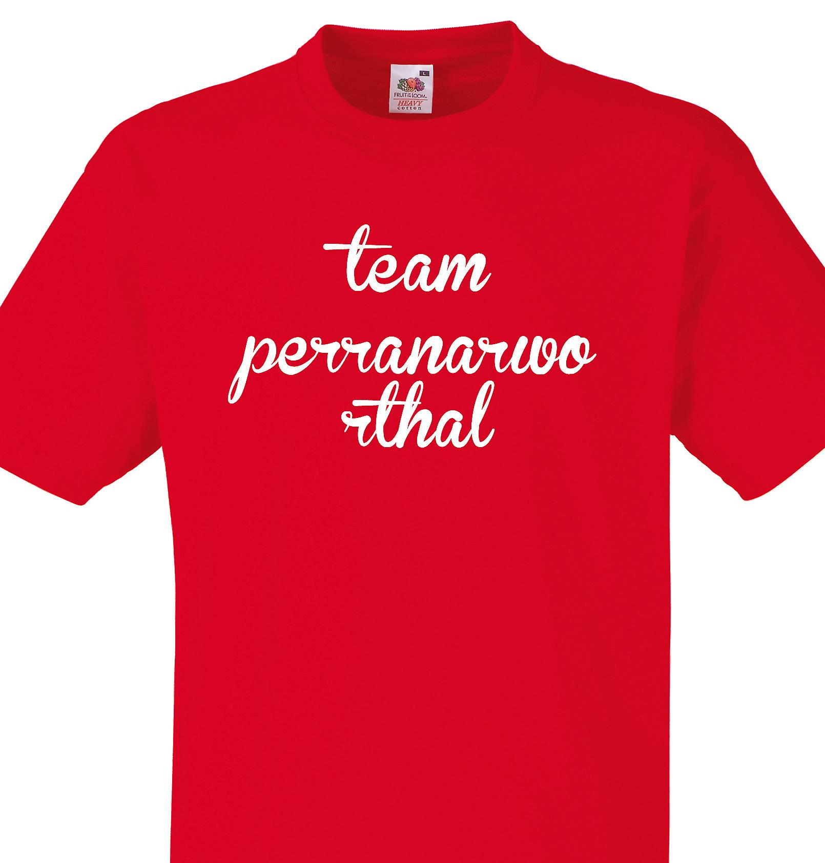 Team Perranarworthal Red T shirt