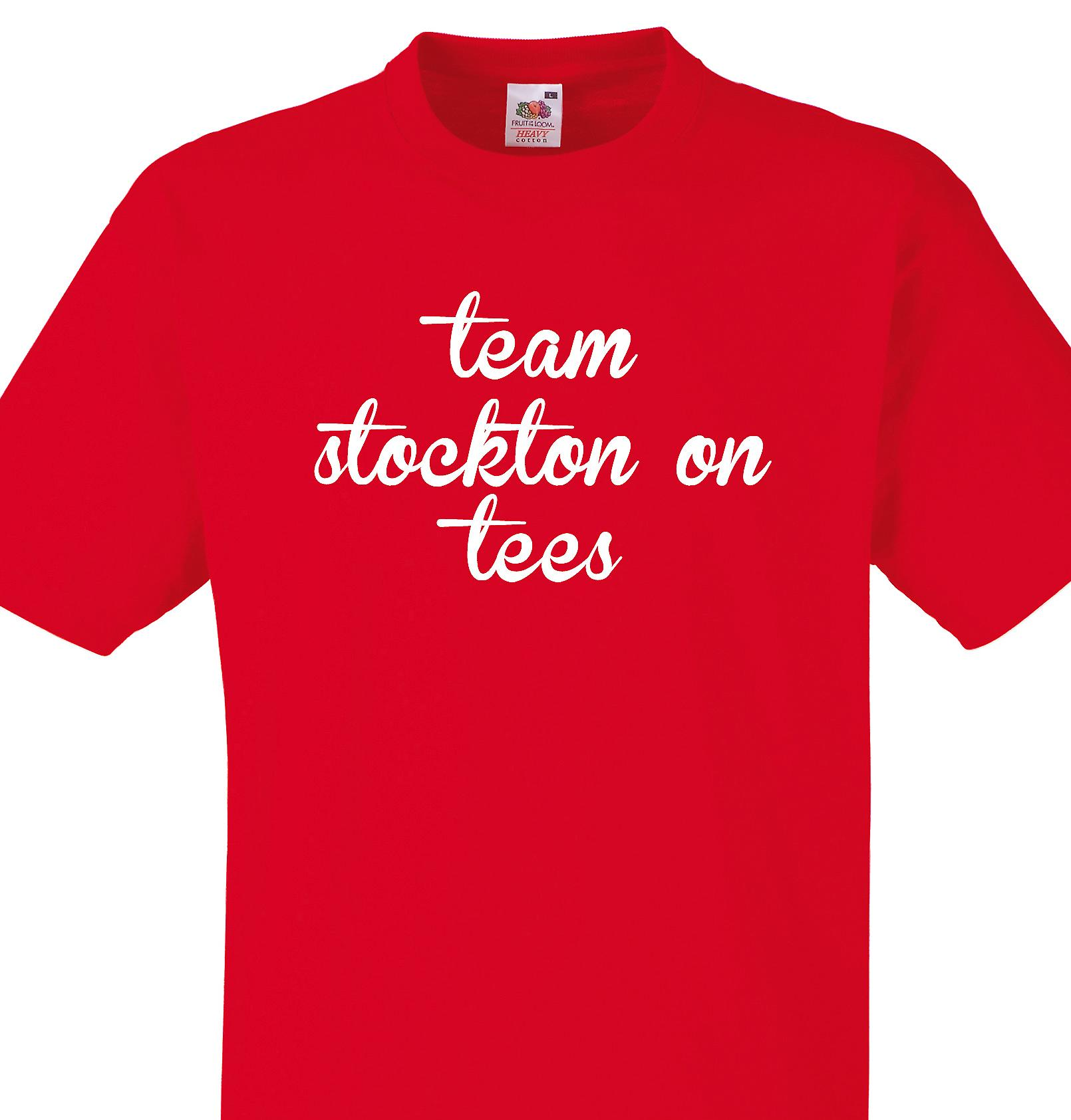 Team Stockton on tees Red T shirt