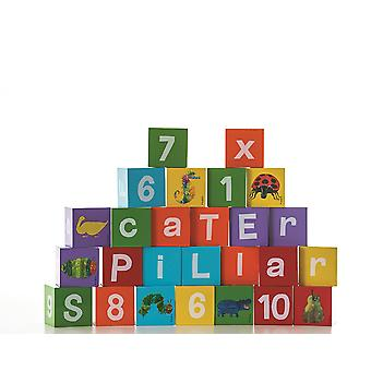 Rainbow Design Very Hungry Caterpillar Wooden Alphabet blocks
