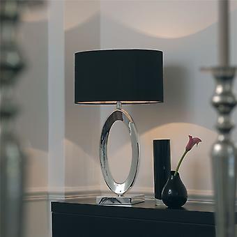 Zilveren tafellamp met Shade - Endon NERINO