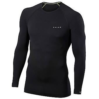 Falke Tight Fit camisa de manga larga - negro