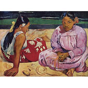 Tahitiaanse vrouwen, Paul Gauguin, 50x37cm