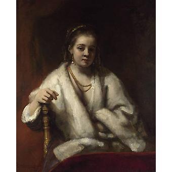 Portrait of Hendrickje Stoffels,Rembrandt,50x40cm