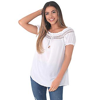 KRISP  Womens Gypsy Boho Loose Lightweight Off Shoulder Top Blouse Summer Tunic Shirt