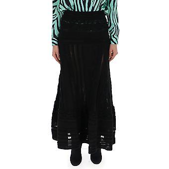 Laneus Black Viscose Skirt