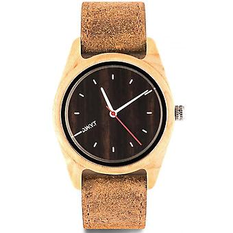 D.W.Y.T DW-00103-1002 - watch Leather Brown wood mixed white