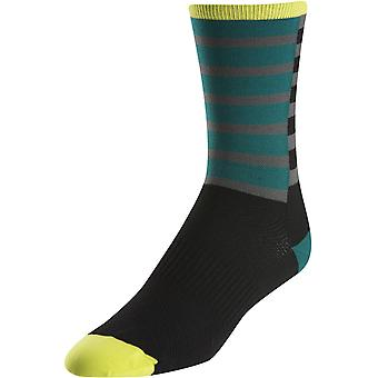Pearl Izumi Stripe Green Elite Tall Cycling Socks