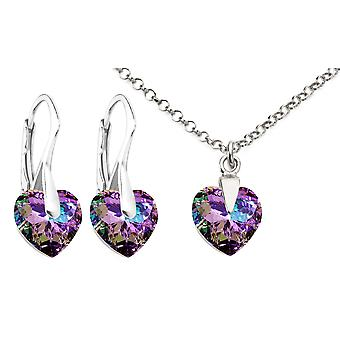 Ah! Jewellery Vitrail Light Heart Crystal From Swarovski