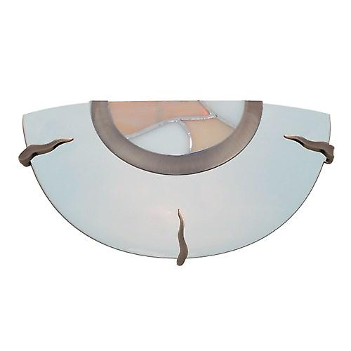 Searchlight 36097AM Traditional Wall Washer Light Amber With White Tiffany Glass