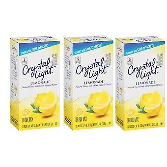 Crystal Light On The Go Lemonade Sugar Free Soft Drink Mix 3 Pack