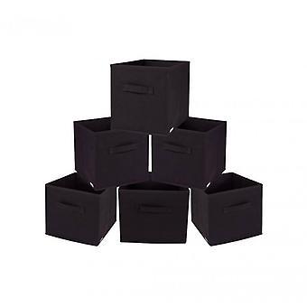 Rebecca meubles Set 6 paniers pliage conteneurs marron TNT Order Home Office