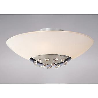 Amada Ceiling 6 Light Polished Chrome/frosted Glass