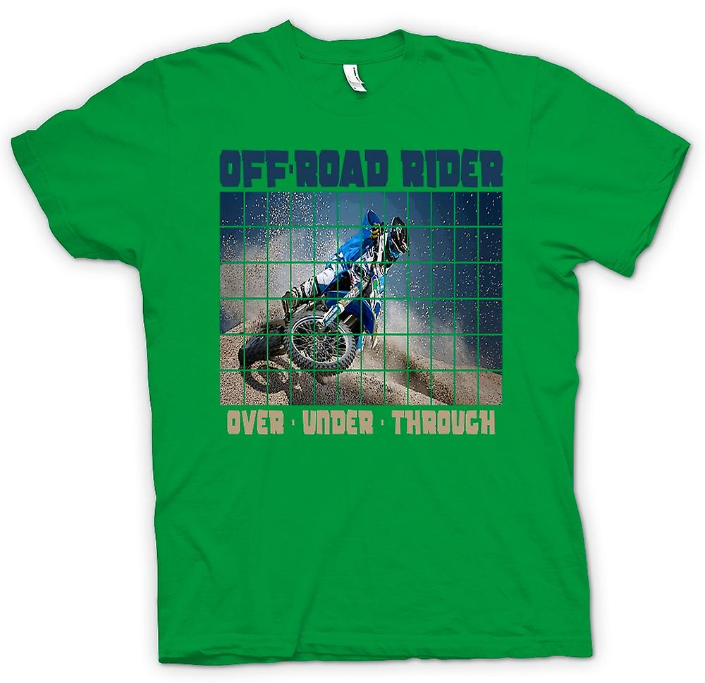 Mens t-skjorte-Off Road Rider Over Under gjennom - Motocross