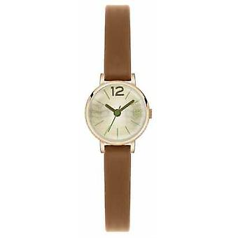 Orla Kiely Frankie Brown Leather Strap Champagne Dial OK2026 Watch