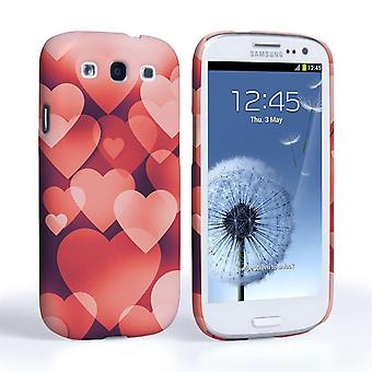 Caseflex Samsung Galaxy S3 Red Shimmering Hearts Case