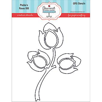Gourmet tampons Petite pochoirs 4.25 « X6.5 »-Roses GRS-ST2-P008
