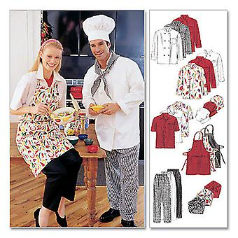 Misses' And Men's Jacket, Shirt, Apron, Pull  On Pants, Necke  Xxl Pattern M2233  Xxl