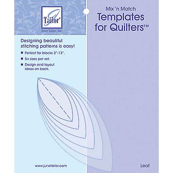 Mix'n Match Templates For Quilters 6 Pkg Leaf Jt400 414
