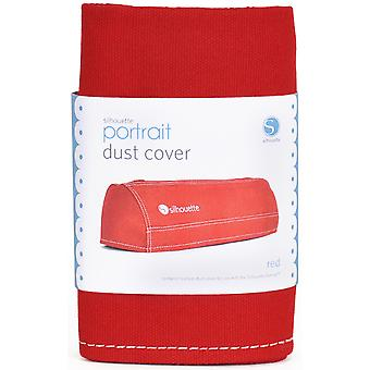 Silhouette Portrait Dust Cover Red Porcover Red