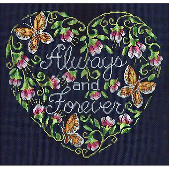 Always And Forever Counted Cross Stitch Kit-10