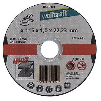 Wolfcraft 3 Cutting Discs Ø 115 Mm For Specific Stainless Steel Metal