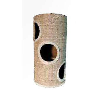 Arquivet Beige Cat Tree With Holes 36X36X70Cm (Cats , Toys , Scratching Posts)