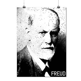 Matte or Glossy Poster with Freud Portrait Celebrity Famous Person | Wellcoda | *q1451
