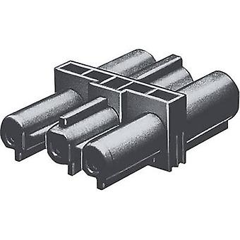 Double pole connector [ Wieland GST18 plug - Wieland GST18 receptacle] Black