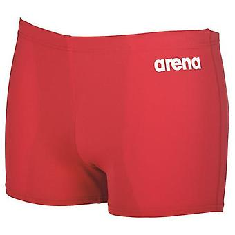 Arena Boys Solid Junior Swim Shorts - Red