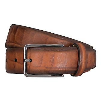 SAKLANI & FRIESE belts men's belts leather belt Cognac 5144