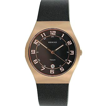Bering mens watch wristwatch slim classic - 11937-262 Meshband