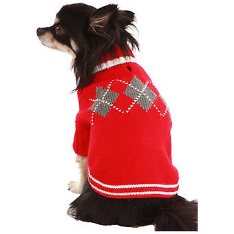 Doggy Things Argyll Jumper Red Extra Extra Small 30cm