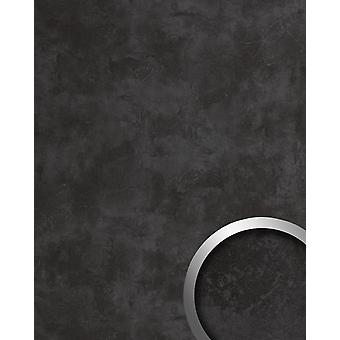 Wall Panel concrete optics WallFace 19092 CEMENT DARK decorative Panel structured in stone look matte anthracite adhesive 2.6 m2