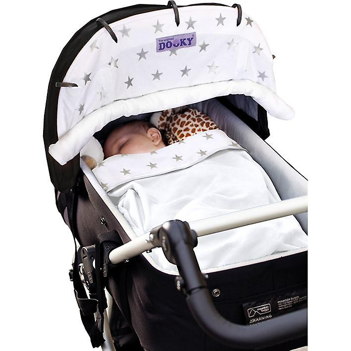 Dooky Double Sided Pram Blanket 100% Cotton