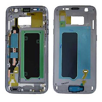 Samsung GH96-009788A housing frame cover for Galaxy S7 G930 G930F + adhesive pad black