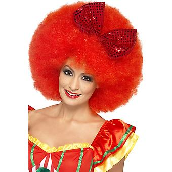 Mega Afro wig red for Clownkostüm with curly loop