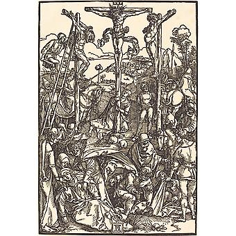 Albrecht Durer - Calvary with the Three Crosses Poster Print Giclee