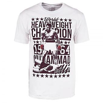Muhammad Ali Mens Muhammad Ali 64 Champ T Shirt White