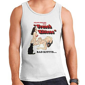 French Kittens Sexy Girls Bad Kittys Men's Vest