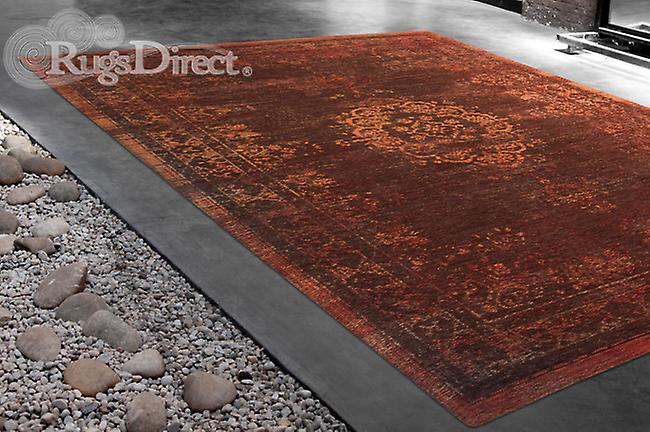 Décoloration Dark World Pumpkin Shaed de couleur orange foncé Rectangle Tapis Tapis modernes