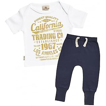 Spoilt Rotten California T-Shirt & Navy Joggers Outfit Set