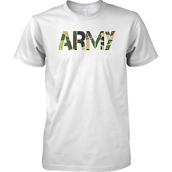 Army - CamouFlage DPM Words - Military Soldier - Kids T Shirt