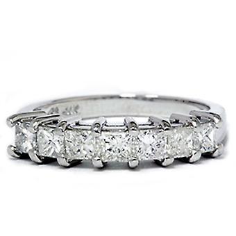 Corte de la princesa 1ct anillo de aniversario de bodas de diamante