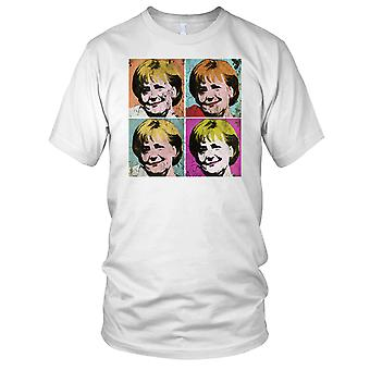 Angela Merkel German Chancellor Pop Art Ladies T Shirt