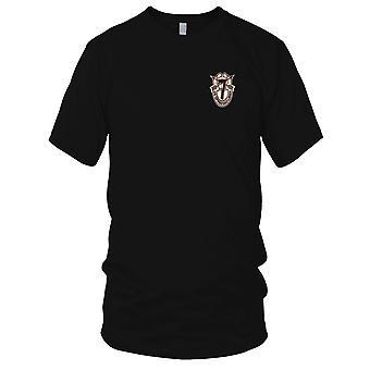 Exército dos EUA - 7ª especial forças grupo Crest deserto Brown 7 bordada Patch - feminina T-Shirt