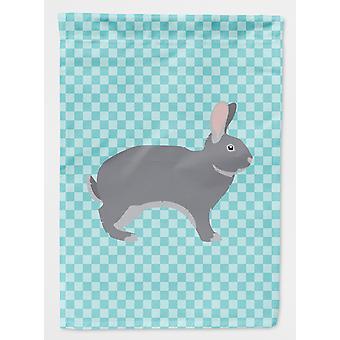 Giant Chinchilla kanin blå sjekk flagg hage størrelse