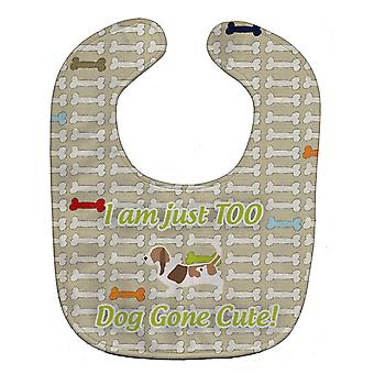 Carolines Treasures  BB6507BIB Basset Hound Dog Gone Cute Baby Bib