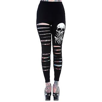 Banned Slashed Up Skelly Leggings