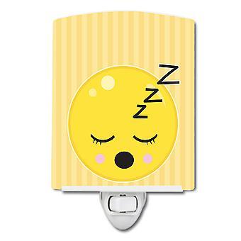 Carolines skatter BB8738CNL sove ansikt keramiske nattlys